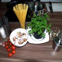 Spaghetti ai frutti di mare in bianco - Zutaten