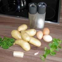 Kartoffel Frikadellen mit Minze - Die Zutaten