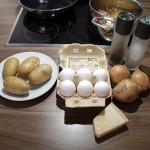 Frittata cipolle e patate - Die Zutaten