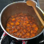 Kürbissauce kochen